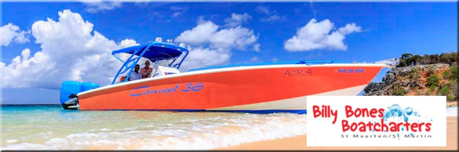 Billy Bones Boatcharters on St Martin activities St Maarten Activities Sint Maarten Activities Saint Martin Activities